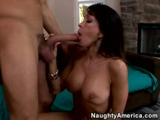 Lusty Hawt Cougar KrisTina Cross Stuffs Her Soaked Throat With A Beefy Fat Cock