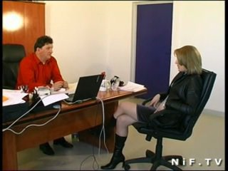 Horny french girl sodomized in our office