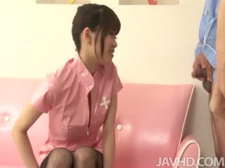 Ririka Suzuki has a hole ripped in her