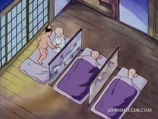 Naked anime nun having sex for the first