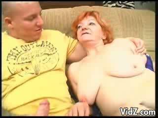 Grandma sucked dudes thick cock