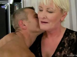 Hot busty granny enjoys good fucking