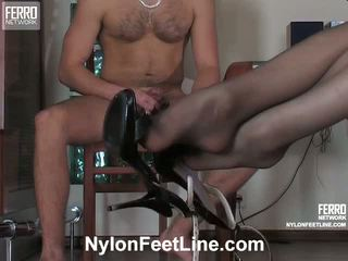 Caroline Clifford Nylon Footsex Movie