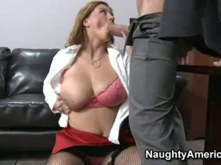 Lascivious Office Bitch Sara Stone Blocks Her Hot Mouth With A Thick Rigid Shaft