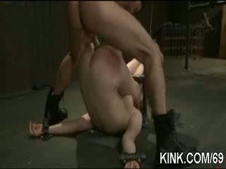 Pretty hot girl suffers beautifully in hard bondage