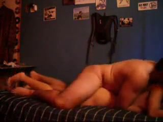 Horny Couple Fucking on Bed