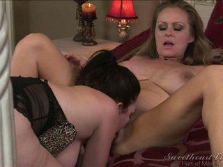 Cute MILF Chewing The Nice Mound Of Her Best Buddy Onto Cam!
