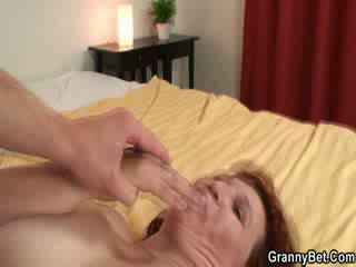 Hardcore screwing for granny hottie