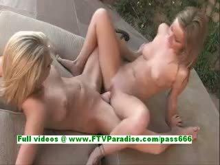Lilah And Cadence Sexy Blonde Lesbian Babes Masturbating