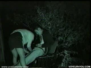 Bench park at midnight.sex