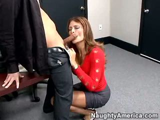 Bitchy Brunette Monique Fuentes Acquires Her Mouth Hooked Up On A Strong Cock