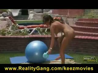 Young Busty Brunette Pricilla Milan is Flexible & Fucked outdoors