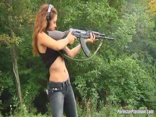 Shooting Guns Close By Some Avid Fool