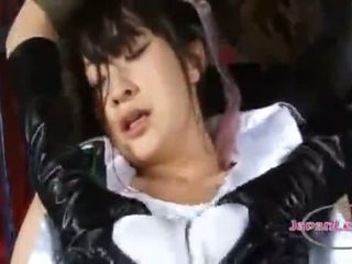 Asian Heroine Costume Girls Grabbing Tits Biting Nipples Licking Nipples Sucking Nipples In Clothes