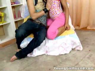 Seductive Teen Girlfriend Lira Gets Tits Sucked