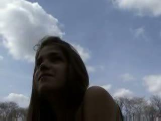 Russian amateur teen banged outdoor Video