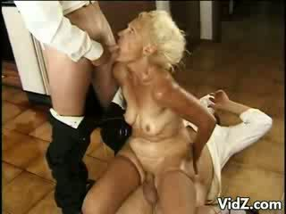 Old prostitute fucks still has the stamina to fuck