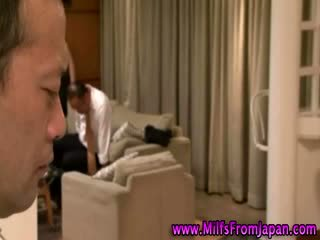 japanese milf Housewife getting it on
