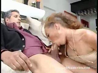 Seductive Hawt Bitch Ashley Gracie Slips Her Slippery Mouth On A Man's Pole
