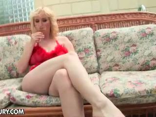 Lusty Grandmas: Parents out for some outdoor sex time