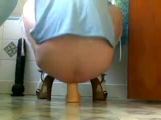 Dildo being eaten by my wife ass Video