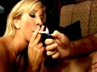 Blond Smoker Whore Morgan Ray Gives Fellatio