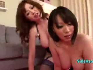 2 Busty Asian Girls Fucked By Guy In The Sitting Room