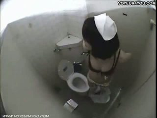 Sexy Japanese Girl Dorm Toilet Onanism
