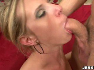 Hawt Golden Haired Brea Bennet Sucking A Long Fat Dick