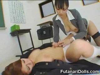 Futanari Coed Gets a Blowjob