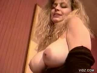 Blonde megaboobed whore Lynn suck and fuck