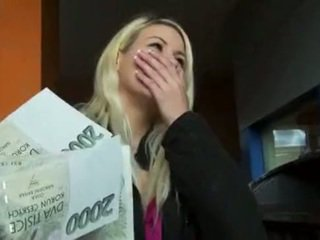 Czech slut Yenna pounded in a carpark in exchange for cash