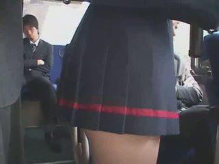 Japanese Groped Bus bukkake