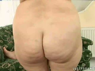 Naughty granny giving blowjob and getting fucked