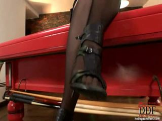 Sleaze Brunette Anna Polina Demonstrating How She Is Able To Suck