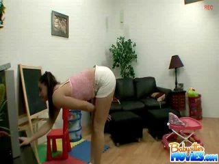 Teen Babysitter Having Some Nasty Funtime