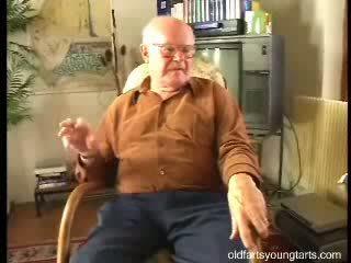 Lovely ***** fucks an old fuck