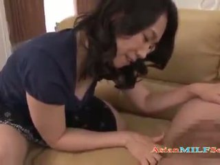 Busty Asian Milf gets vibed after a succulent blowjob