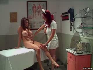 Enema nurse gives erotic Anal Exam
