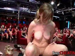 Cougar Gets A Cumshot Facial At Stripclub
