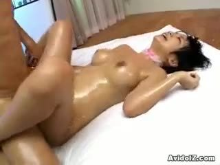 Meguru Kosaka Creamed, Oiled And Fucked