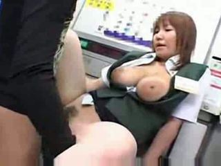 Busty japanese fucked at work