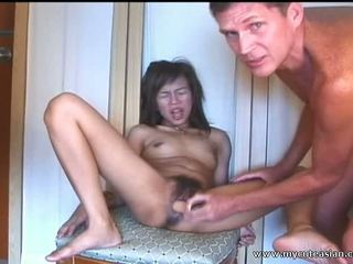 Oriental Dilettante Teen Sucks And Fucks In Front Of The Camera