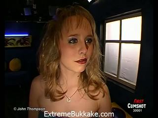 Young Steffi can't wait to be used as a cum-bucket
