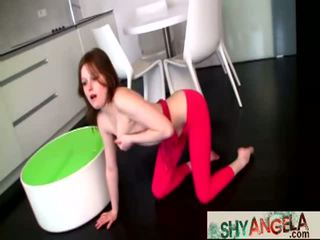 Sexy Brnette Shy Angela Loses Her Temper Fingering