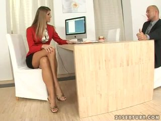 Jennifer Stone Secretary Footjob