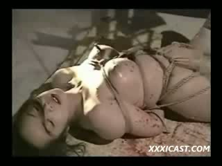 Hot Waxed And Roped asian girls