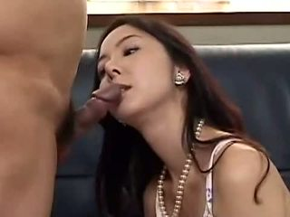 Asian babe has a dick deep in her twat