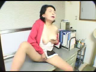 Coffee Break In Japanese Granny Office Video