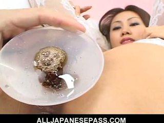 Japanese cougar Naami Hasegawa in white stockings fucke